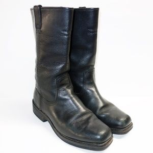 Harley Davidson Black Leather Motorcycle Boots 8.5
